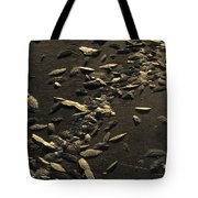 Ice Crystals Form On Frozen Creek Tote Bag