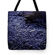 Ice Crystals In River Tote Bag