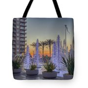 Ice Cycles At Sunset Tote Bag