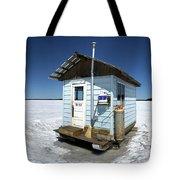 Ice Fishing Shack Tote Bag