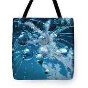 Ice Flower Abstract Tote Bag