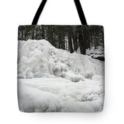 Ice Formations At Garwin Falls Tote Bag
