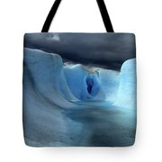 Ice Formations On Grey Glacier Chile Tote Bag