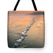Ice Fracture Tote Bag