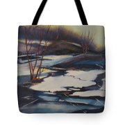 Ice Fragments Tote Bag