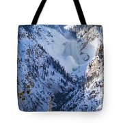 Ice In The Falls Tote Bag
