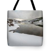 Ice In The River Tote Bag