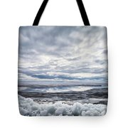 Ice On Lake Nipissing Tote Bag