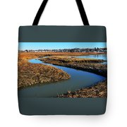 Ice On The Saltmarsh  Tote Bag