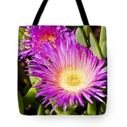Ice Plant Blossom Tote Bag by Kelley King