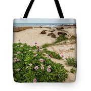 Ice Plant Booms On Pebble Beach Tote Bag