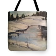 Ice Pond Tote Bag