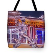 The Annual Ice Sculpting Festival In The Colorado Rockies, The Beguiling Siren Tote Bag