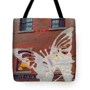 The Annual Ice Sculpting Festival In The Colorado Rockies, The Flittering Butterfly Tote Bag