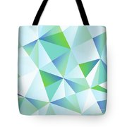 Ice Shards Abstract Geometric Angles Pattern Tote Bag