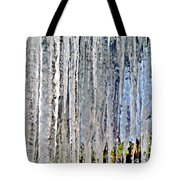 Ice Sickle Curtains Tote Bag