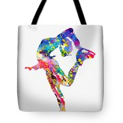 Ice Skater-colorful Tote Bag