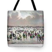 Ice Skating, C1859 Tote Bag