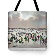 Ice Skating, C1859 Tote Bag