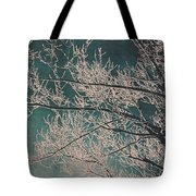 Ice Storm Branches - Blue Tote Bag
