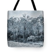 Ice Storm In The Flint Hills No 1 2724 Tote Bag