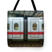 Ice Train At Berlin Station Tote Bag