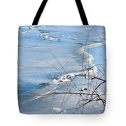 Ice Waves Tote Bag