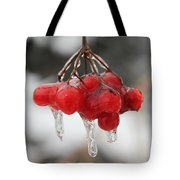 Ice Wrapped Berries Tote Bag