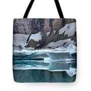 Iceberg Lake Icebergs Tote Bag