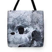 Iceberg On Jokulsarlon Iceberg Beach #07 Tote Bag