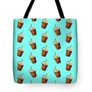 Iced Coffee To Go Pattern Tote Bag