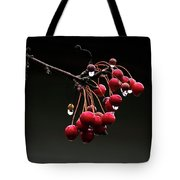 Iced Crab Apples Tote Bag