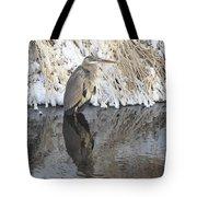 Iced Heron Tote Bag