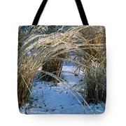 Iced Ornamental Grass Tote Bag