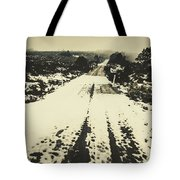 Iced Over Road Tote Bag