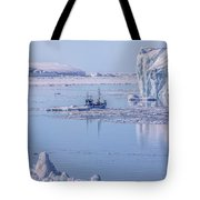 Icefjord In Greenland Tote Bag