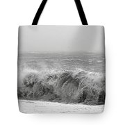 Iceland Black Sand Beach Wave Five Tote Bag