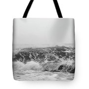 Iceland Black Sand Beach Wave Three Tote Bag