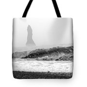 Iceland Black Sand Beach Wave Two Tote Bag