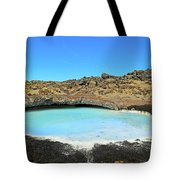 Iceland Blue Lagoon Exploring The Lava Fields Tote Bag