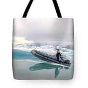 Iceland Glacier Lagoon Tote Bag by Ambika Jhunjhunwala