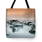 Iceland, Jokulsarlon Glacial Lagoon , Icebergs Melting Tote Bag