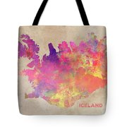 Iceland Map Tote Bag