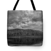 Iceland Mountain Reflections Bw Tote Bag