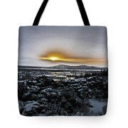 Iceland Sunrise Iceland Lava Field Streams Sunrise Mountains Clouds Iceland 2 2112018 1095.jpg Tote Bag