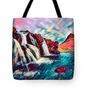 Iceland Waterfalls Tote Bag