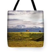 Icelandic Horses On The Countryside  Tote Bag