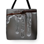 Icicles Close-up Tote Bag