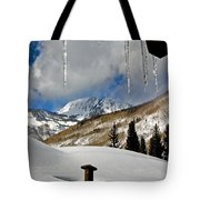 Icicles In East Vail Tote Bag