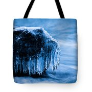Icicles On The Rocks Tote Bag
